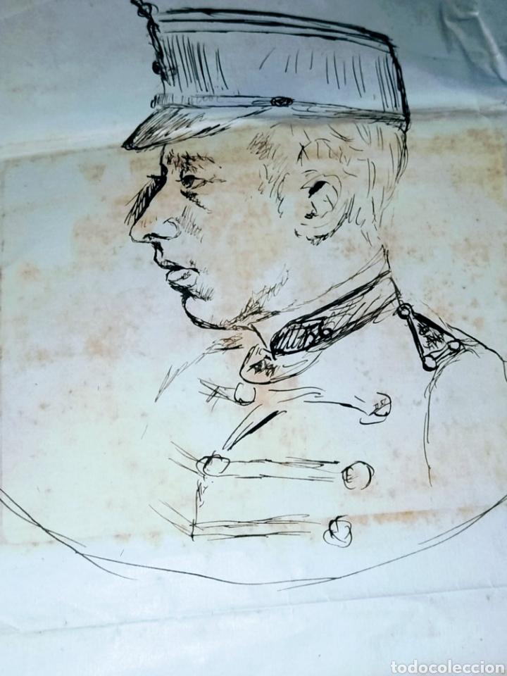 Arte: Retrato a plumilla sobre papel de Rafael Rocafull y Monfort.1825. - Foto 3 - 200174677