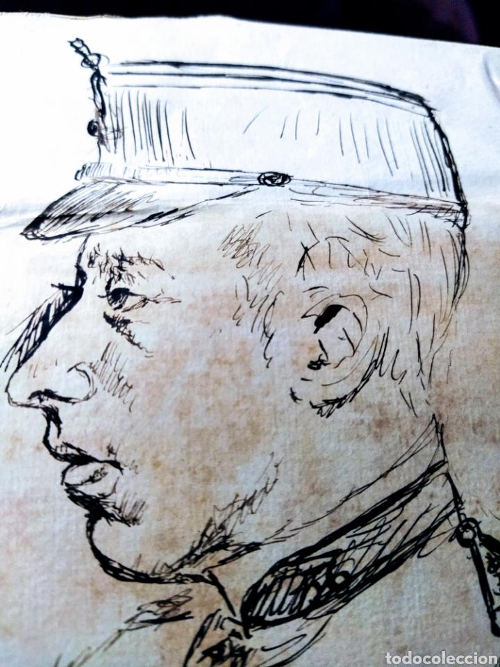 Arte: Retrato a plumilla sobre papel de Rafael Rocafull y Monfort.1825. - Foto 4 - 200174677