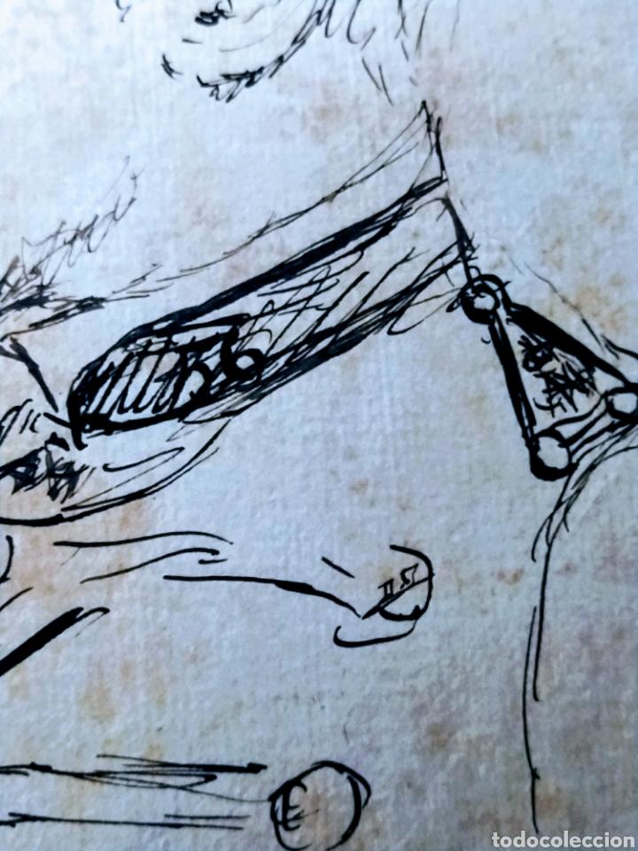 Arte: Retrato a plumilla sobre papel de Rafael Rocafull y Monfort.1825. - Foto 5 - 200174677