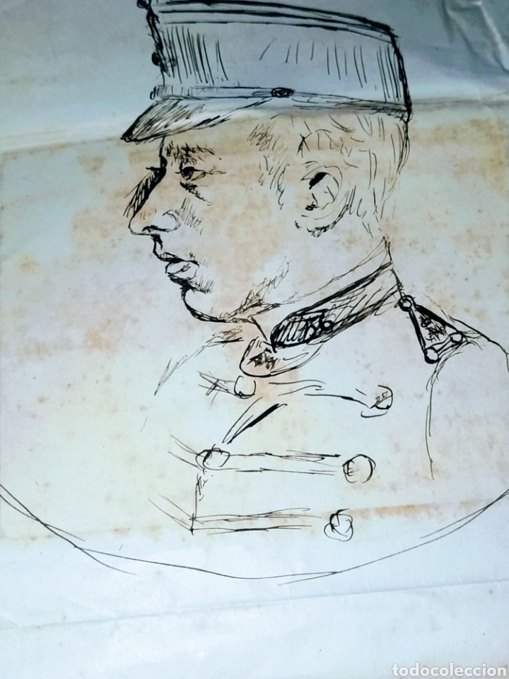 RETRATO A PLUMILLA SOBRE PAPEL DE RAFAEL ROCAFULL Y MONFORT.1825. (Arte - Dibujos - Modernos siglo XIX)