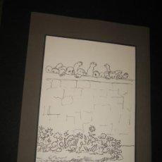 Arte: DIBUJO NIÑOS SUBIENDO A LA PARED. Lote 200192433