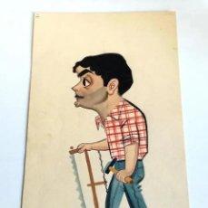 Arte: GOUACHE O ACUARELA CARTÓN CARTULINA CREEMOS ORIGINAL FIRMADO DIBUJANTE MONTALBÁN 1958. Lote 200378443