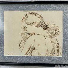 Arte: DIBUJO JOSEP CLARÀ I AYATS (1878- 1958) - 20 X 15 CM.. Lote 200516163