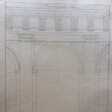 Arte: DIBUJO ORIGINAL FIRMADO. PORTICO SEM PEDESTAL. . Lote 200768033