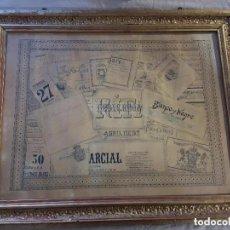 Arte: DIBUJO ORIGINAL TINTA DE 1897. DOCUMENTO GRÁFICO DE LA ÉPOCA CON FIRMA DEL AUTOR. MESA REVUELTA. Lote 200886517
