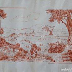 Arte: DIBUJO / SANGUINA DE PAISAJE CAMPESTRE - FIRMADA: JOAN CASTELLVÍ - AÑO 1966.. Lote 201161862