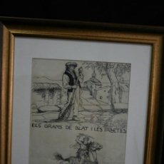 Arte: JOAN LLAVERIAS LABRO,(1865-1938 ) DIBUJO DIBUJO ORIGINAL A TINTA. FIRMADO Y FECHADO.. Lote 201544712