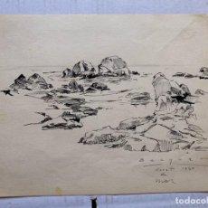 Arte: CARLOS BECQUER - LLORET DE MAR 1940. Lote 201754315