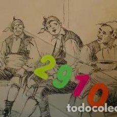 Arte: DIBUJO ORIGINAL Y BOCETO TEODORO GASCON BARQUERO ?? HISTORIAS BATURRAS - HOJAS SELECTAS. Lote 201859938