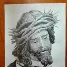 Arte: DIBUJO A GRAFITO JESÚS DEL GRAN PODER SEVILLA. Lote 201176831