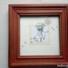 Arte: MINI DIBUJO 2005 ENMARCADO. Lote 202663833