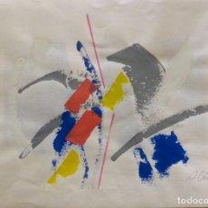 Arte: RAMÓN VILLA. SIN TÍTULO, 1986. TÉCNICA MIXTA SOBRE PAPEL.. Lote 202779083
