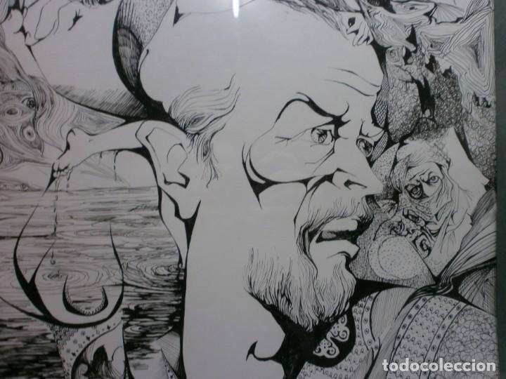 Arte: 2 cuadros originales a pinta o plumilla a expertizar famosa autora raquel clemente años 1967 y 1969 - Foto 3 - 202791060