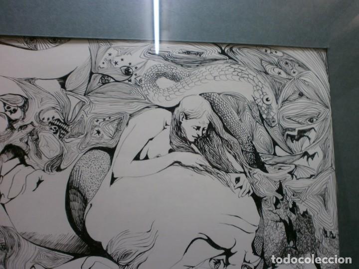Arte: 2 cuadros originales a pinta o plumilla a expertizar famosa autora raquel clemente años 1967 y 1969 - Foto 5 - 202791060