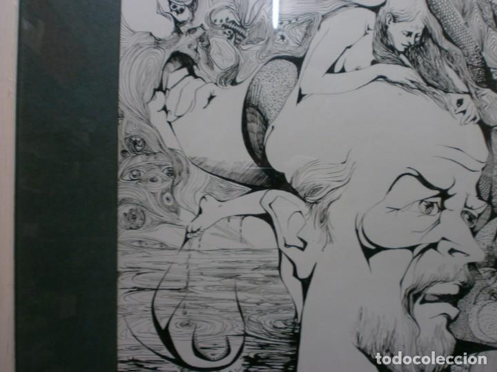 Arte: 2 cuadros originales a pinta o plumilla a expertizar famosa autora raquel clemente años 1967 y 1969 - Foto 6 - 202791060