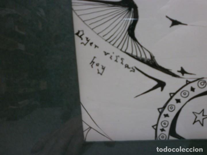 Arte: 2 cuadros originales a pinta o plumilla a expertizar famosa autora raquel clemente años 1967 y 1969 - Foto 10 - 202791060