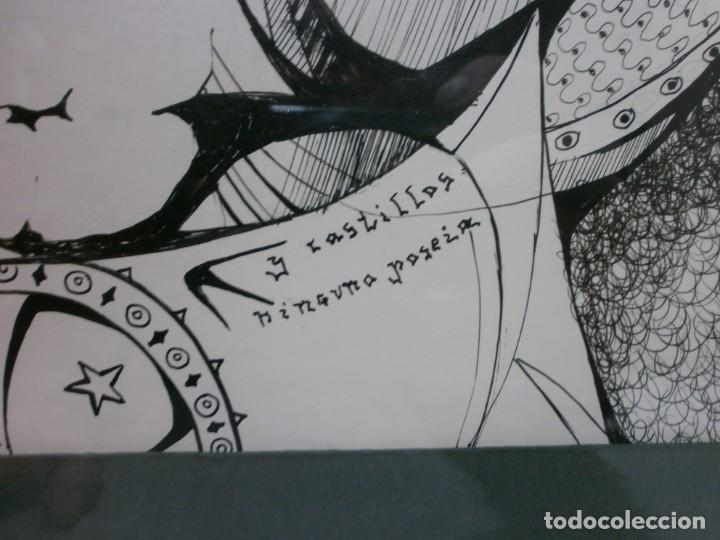 Arte: 2 cuadros originales a pinta o plumilla a expertizar famosa autora raquel clemente años 1967 y 1969 - Foto 11 - 202791060