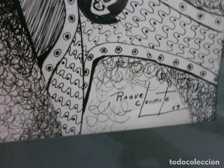 Arte: 2 cuadros originales a pinta o plumilla a expertizar famosa autora raquel clemente años 1967 y 1969 - Foto 12 - 202791060