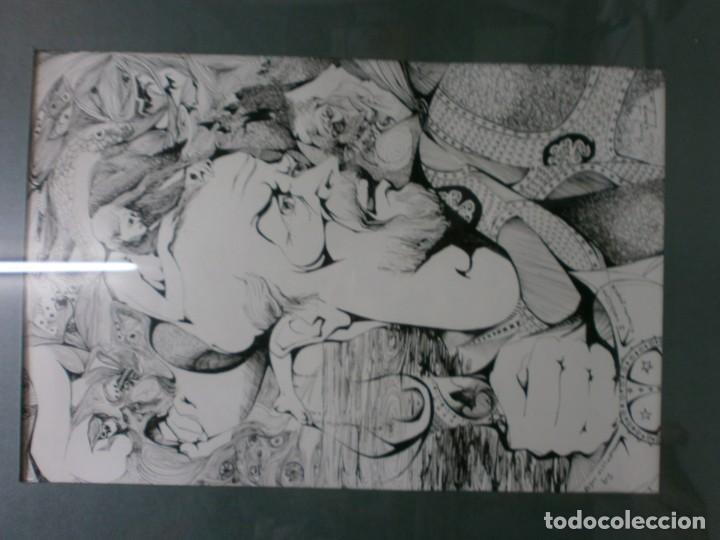 Arte: 2 cuadros originales a pinta o plumilla a expertizar famosa autora raquel clemente años 1967 y 1969 - Foto 13 - 202791060