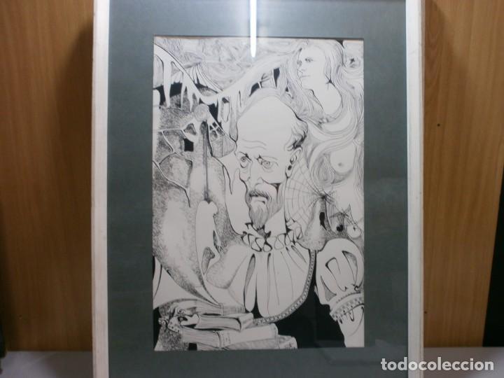 Arte: 2 cuadros originales a pinta o plumilla a expertizar famosa autora raquel clemente años 1967 y 1969 - Foto 14 - 202791060