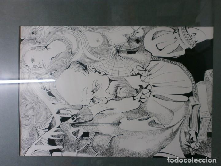 Arte: 2 cuadros originales a pinta o plumilla a expertizar famosa autora raquel clemente años 1967 y 1969 - Foto 15 - 202791060