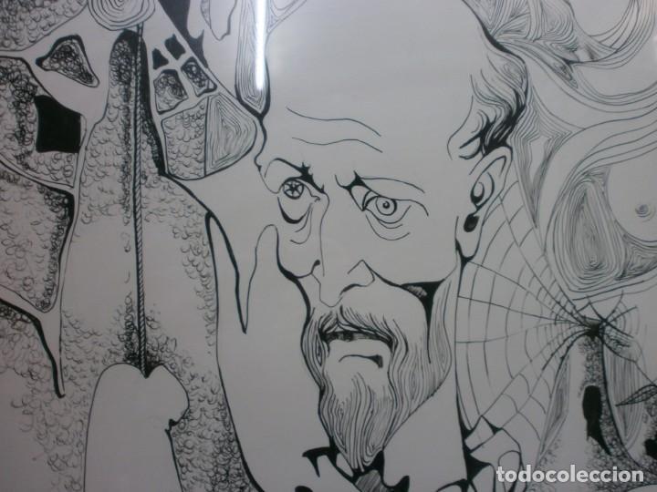 Arte: 2 cuadros originales a pinta o plumilla a expertizar famosa autora raquel clemente años 1967 y 1969 - Foto 16 - 202791060