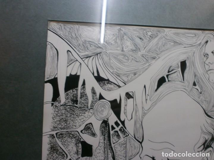 Arte: 2 cuadros originales a pinta o plumilla a expertizar famosa autora raquel clemente años 1967 y 1969 - Foto 17 - 202791060