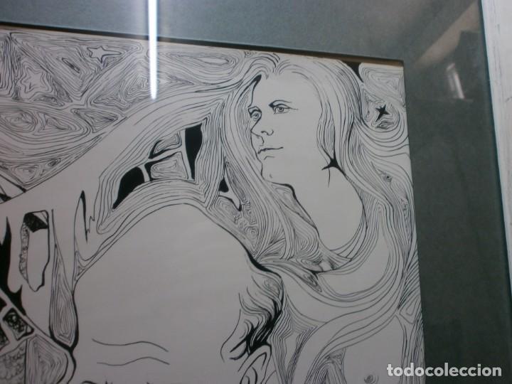 Arte: 2 cuadros originales a pinta o plumilla a expertizar famosa autora raquel clemente años 1967 y 1969 - Foto 18 - 202791060