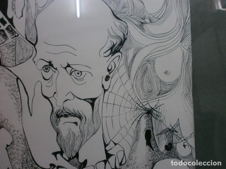 Arte: 2 cuadros originales a pinta o plumilla a expertizar famosa autora raquel clemente años 1967 y 1969 - Foto 20 - 202791060