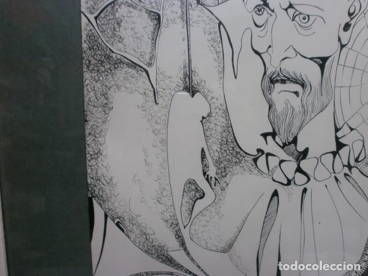 Arte: 2 cuadros originales a pinta o plumilla a expertizar famosa autora raquel clemente años 1967 y 1969 - Foto 21 - 202791060