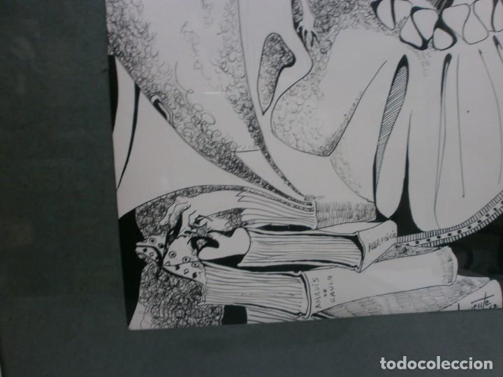 Arte: 2 cuadros originales a pinta o plumilla a expertizar famosa autora raquel clemente años 1967 y 1969 - Foto 23 - 202791060