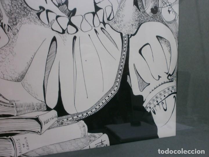 Arte: 2 cuadros originales a pinta o plumilla a expertizar famosa autora raquel clemente años 1967 y 1969 - Foto 24 - 202791060