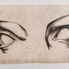 Arte: EXCELENTE DIBUJO ORIGINAL CLÁSICO A CARBONCILLO FIRMADO JOSÉ CHECA, PAPEL VERJURADO, GRAN CALIDAD. Lote 202936493