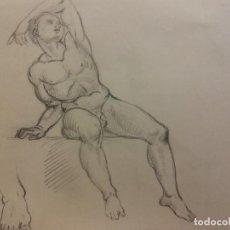Arte: ORIGINAL. OBRA DE FRANCESC GASSÓ. HOMBRE. MEDIDAS 31*21 CM.. Lote 202966958