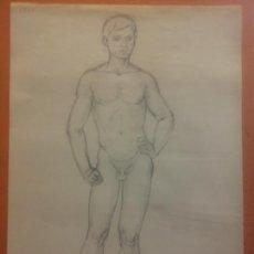 Art: ORIGINAL. OBRA DE FRANCESC GASSÓ. HOMBRE. MEDIDAS 32*21 CM.. Lote 202973480