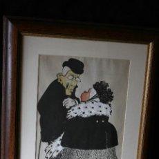 Arte: PICAROL, ( JOSEP COSTA FERRER ) TINTA, ACUARELA Y GUAASH SOBRE PAPEL. FIRMADO. Lote 203280098