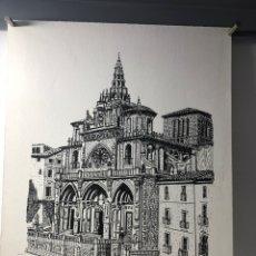 Arte: DIBUJO DE CATEDRAL ··· DESCONOZCO TECNICA UTILIZADA ·· 33 X 25 CMS. Lote 203433638