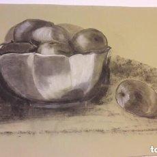 Arte: LOTE DE 9 PINTURAS AL CARBONCILLO Y PASTEL EN PAPEL DE CALIDAD Y FIRMADOS. Lote 203456981