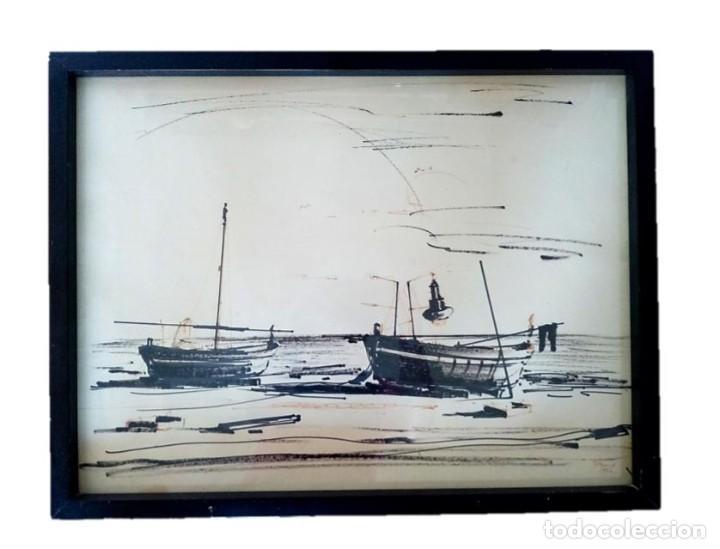 PINTOR FERRER FRANCESC (BRUNO) - DIBUJO MARINA M.S.XX (Arte - Dibujos - Contemporáneos siglo XX)
