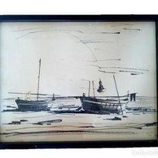 Arte: PINTOR FERRER FRANCESC (BRUNO) - DIBUJO MARINA M.S.XX. Lote 203900938