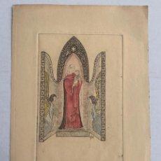 Arte: ELFI OSIANDER - VIRGEN CON NIÑO Y ANGELES. DIBUJO ORIGINAL FIRMADO. Lote 203940280