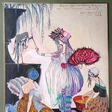 Arte: EXCEPCIONAL OBRA DE JOSÉ ZAMORA (MADRID 1889 – SITGES 1971). TÉCNICA MIXTA SOBRE CARTULINA, 1920. Lote 203945825