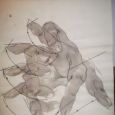 Arte: DIBUJO A TINTA Y ACUARELA, EL MOVIMIENTO DE LOS DEDOS. 40X30. Lote 203950028