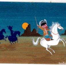 Arte: DIBUJO ORIGINAL EN GOUACHE REALIZADO PARA ILUSTRAR CUENTO. AÑO 1961. Lote 203986321
