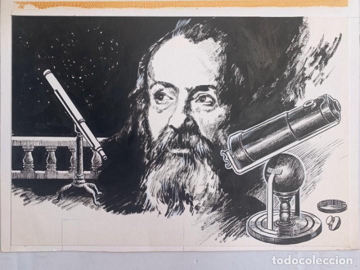 JOSEP GRACIA AGUILÁ - TELESCOPIOS-GALILEO GALILEI. PUBLICADO EN PLAZA & JANES (Arte - Dibujos - Contemporáneos siglo XX)