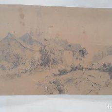 Arte: DIBUJO A LAPIZ FIRMADO JUAN BELDA 1884 MUCHA CALIDAD. Lote 204156611
