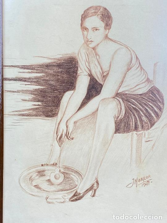 Arte: DIBUJO DEL PINTOR MURCIANO JORGE MONLLOR 1947 - Murcia - Foto 2 - 204253275