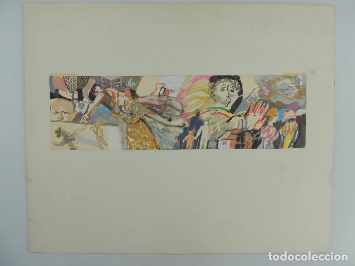 IMPRESIONANTE DIBUJO VARIAS TECNICAS DE ANTONIO ZARCO (Arte - Dibujos - Contemporáneos siglo XX)