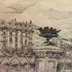 Arte: DIBUJO PASEO DE FRANCIA SAN SEBASTIÁN. Lote 204401700