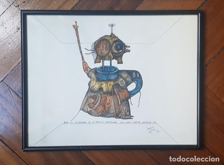 ILUSTRACION RATITA SERRANA DEDICADA DE GONZALO ERICE 1982 (Arte - Dibujos - Contemporáneos siglo XX)